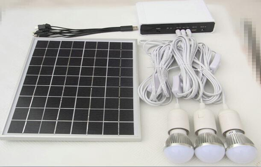 DC solar kit with lithium battery