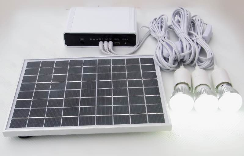 10w solar plastic system with lithium battery